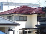 屋根塗装工事、しっくい打替え工事