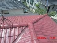 屋根塗装工事、漆喰打替