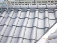 屋根塗装工事、谷板金工事