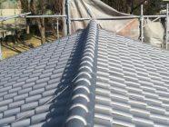 屋根塗装、漆喰打替工事後