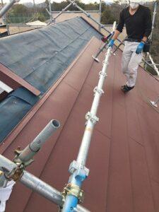 豊能町 ガルバリウム鋼板取り付け作業