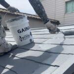 大阪府吹田市 屋根塗装・上塗り2回目