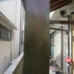 大阪府茨木市 玄関木部塗装