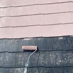 大阪府豊能郡豊能町 屋根塗装・上塗り1回目